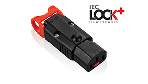World's first locking rewireable C13 IEC Connector from Scolmore