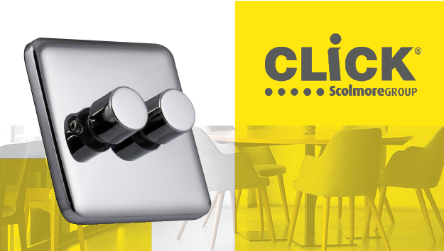New Click LED dimmer switches from Scolmore